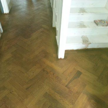 Parquet Flooring in Hallway