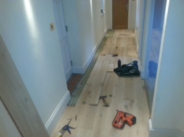 Solid Oak in Hallway