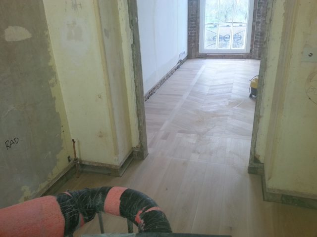 Laying Chevron Parquet