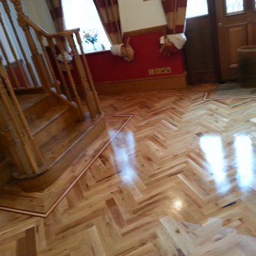 Sanding Parquet Flooring