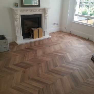 Sanding Walnut Chevron