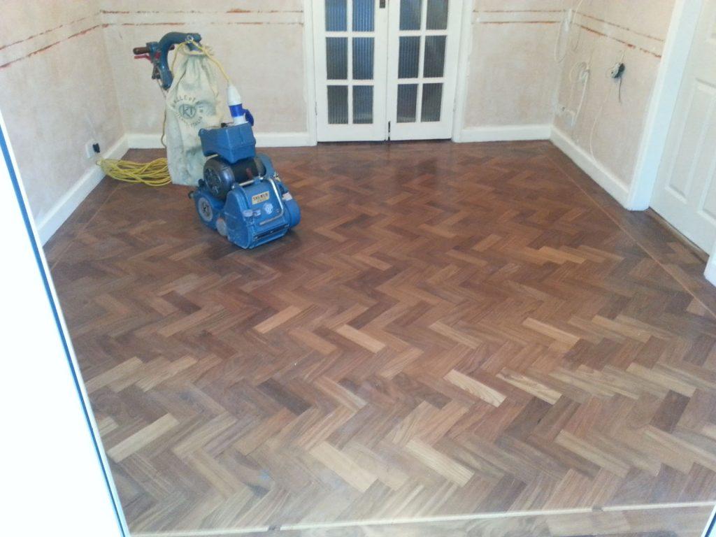 Walnut Parquet Flooring Restoration Renovation