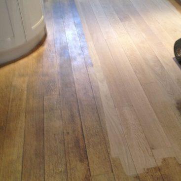 Sanding Oak Planks