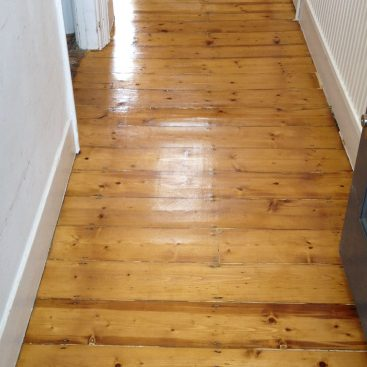 Pine Boards in Hallway