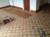 Sanding Mosaic Parquet